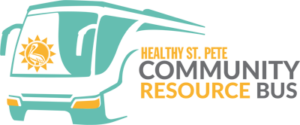 Healthy St Pete Community Resource Bus Logo
