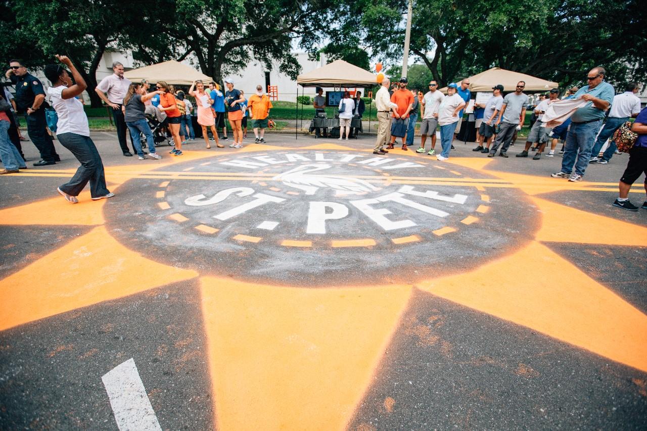 Healthy St. Pete sidewalk art