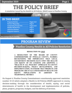 September Policy Brief