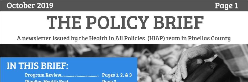 Policy Brief, October 2019