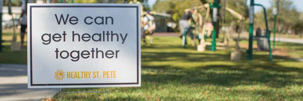 healthy together yard sign