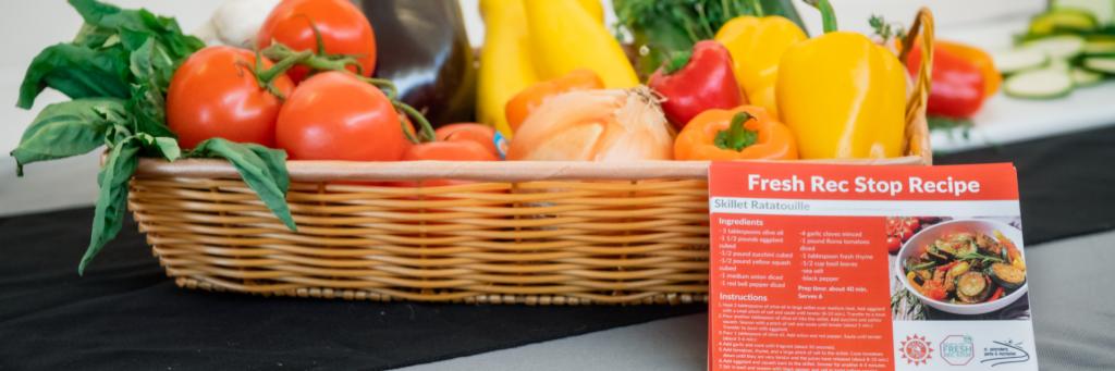 Fresh produce and recipe card