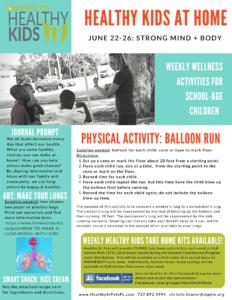 healthy kids week four