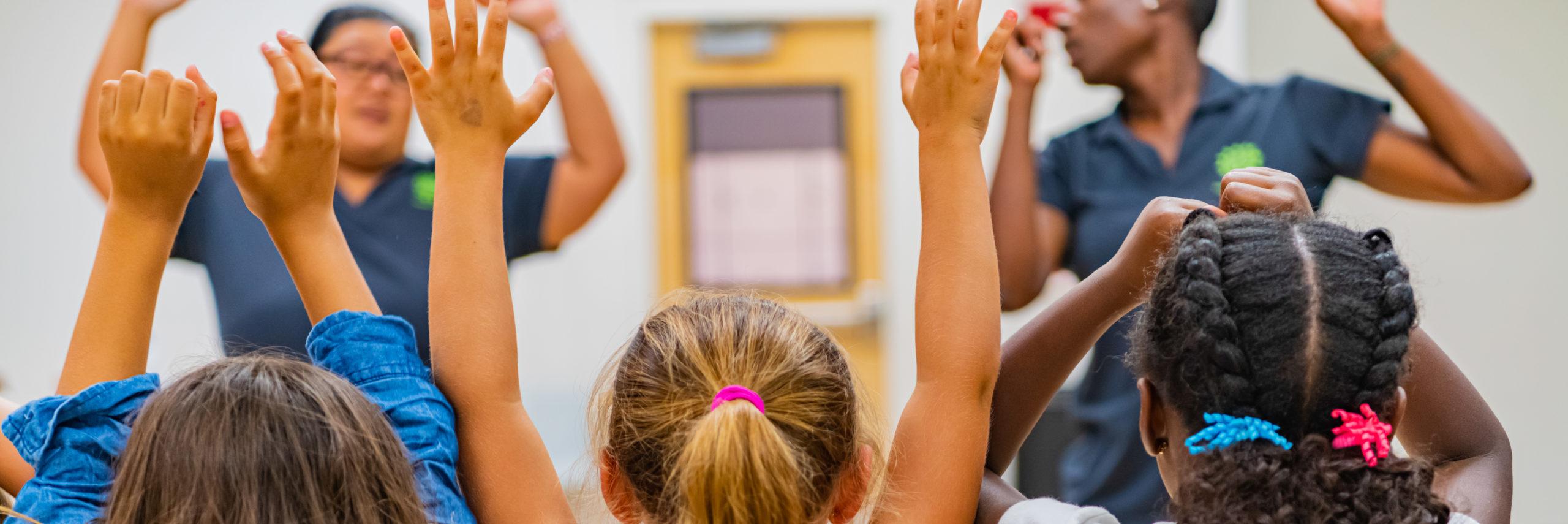 Healthy Kids hands up