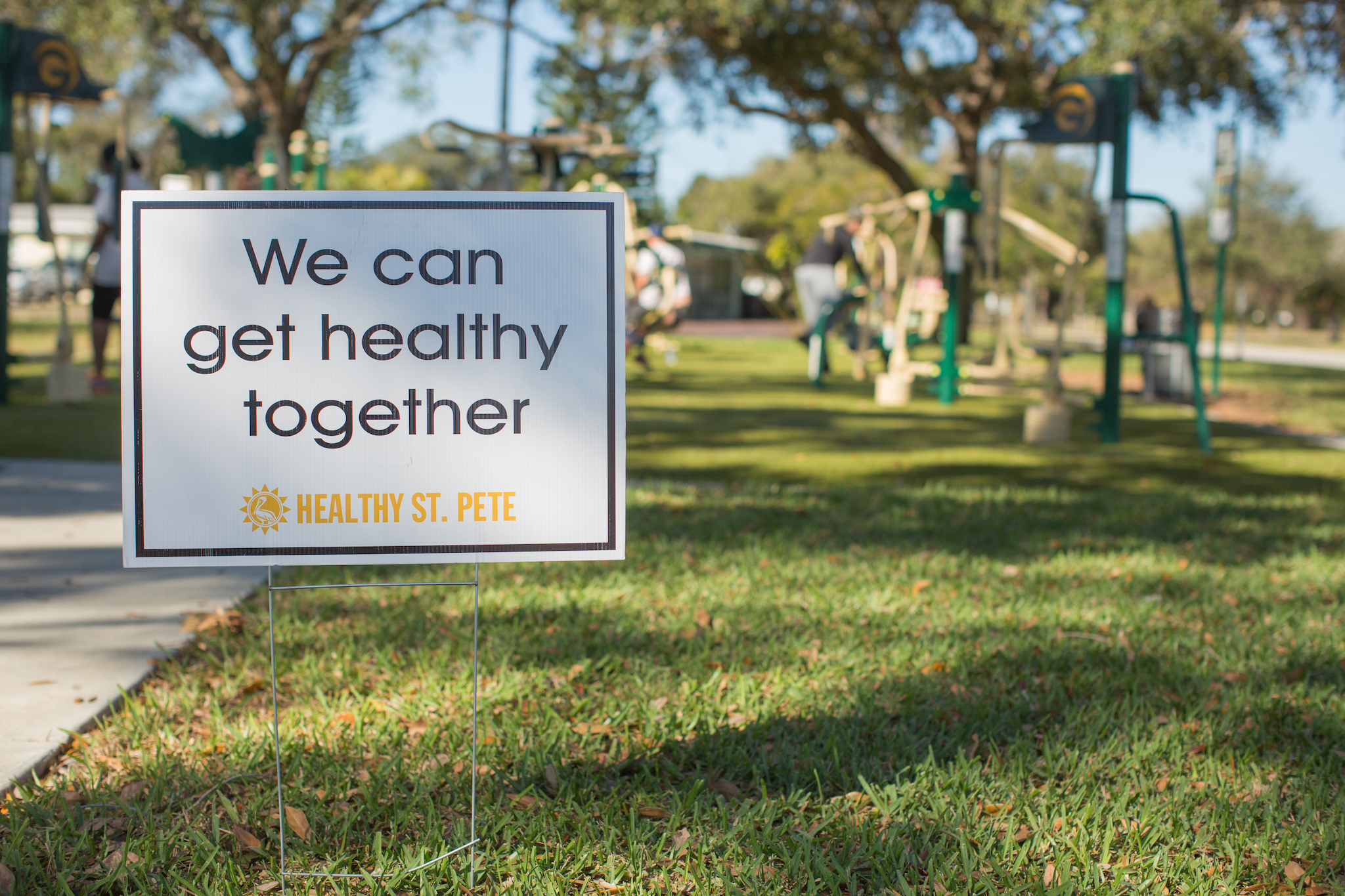 Healthier Together Sign