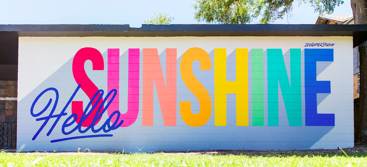 hello sunshine mural