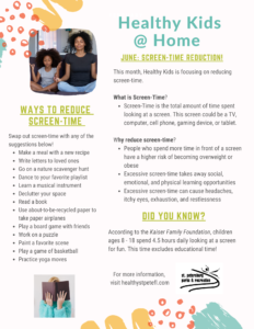 healthy kids screen time
