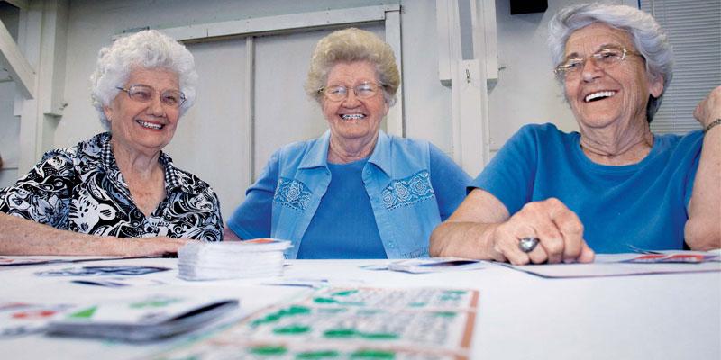 people playing bingo
